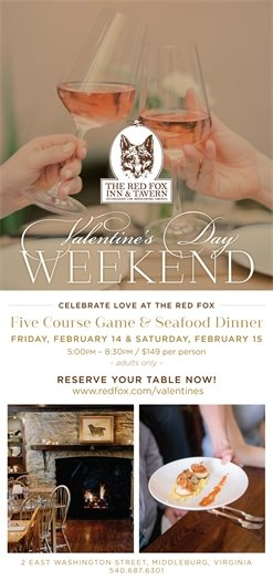 Red Fox, Valentines Day Weekend flyer