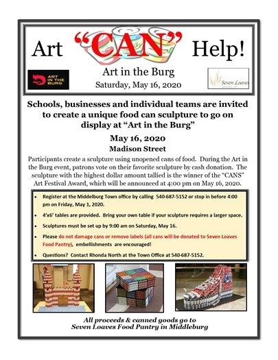 Art CAN Help flyer