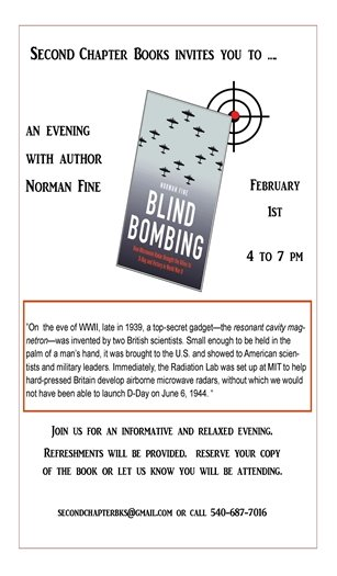 Second Chapter Books, Blind Bombing flyer