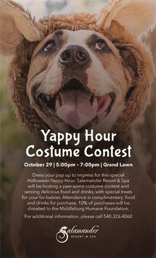Salamander Resort, Yappy Hour Costume Contest