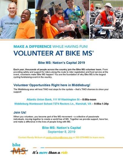 Volunteer at Bike MS