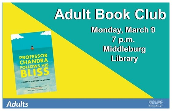 MB Library, Adult Book Club, March