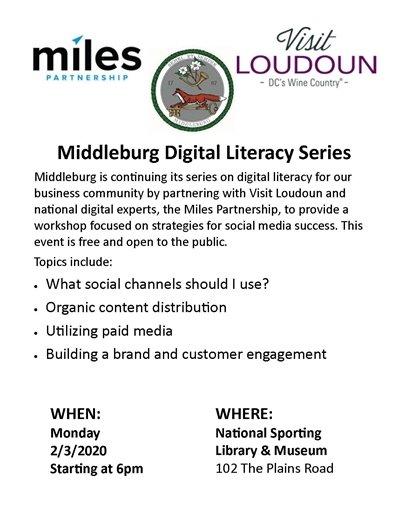 Middleburg Digital Literacy Flyer