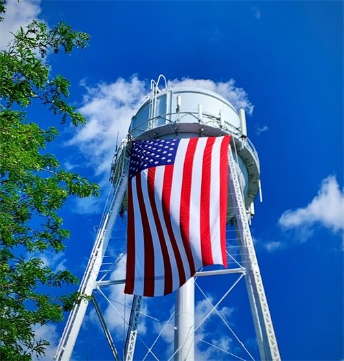 Flag on Tower
