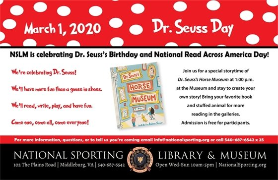 NSLM Dr Suess Day poster