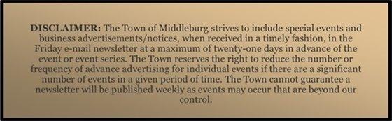 Middleburg Disclaimer