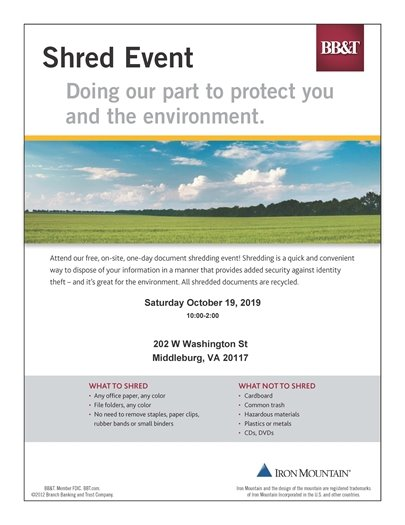 BB&T Shred Event