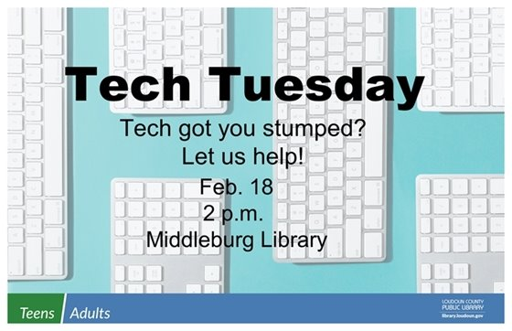 Middleburg Library, Tech Tuesday flyer