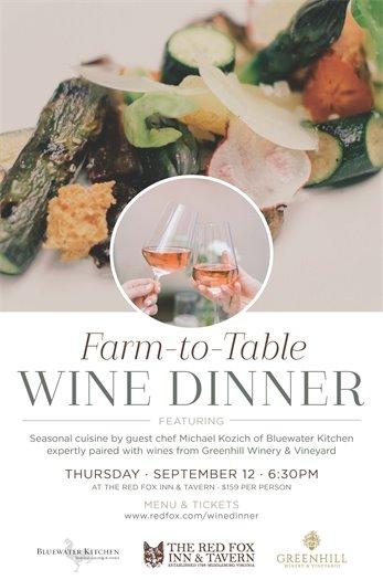 Red Fox Inn Wine Dinner Flyer