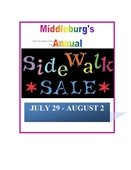 Middleburg Sidewalk Sale: July 29 - August 2