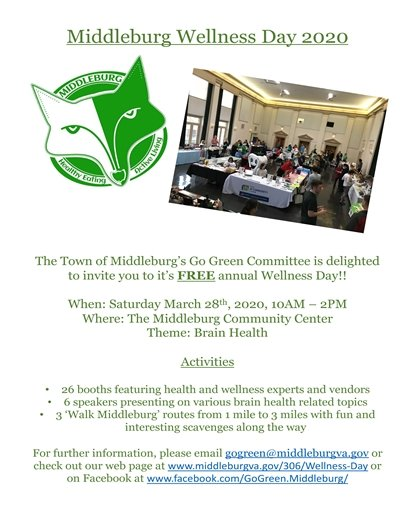 Middleburg Wellness Day Flyer