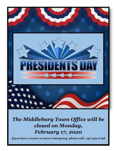 President's Day-office closed sign