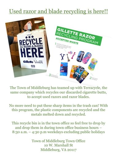 Razor Recycling flyer
