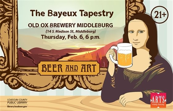 Middleburg Library, Beer and Art flyer