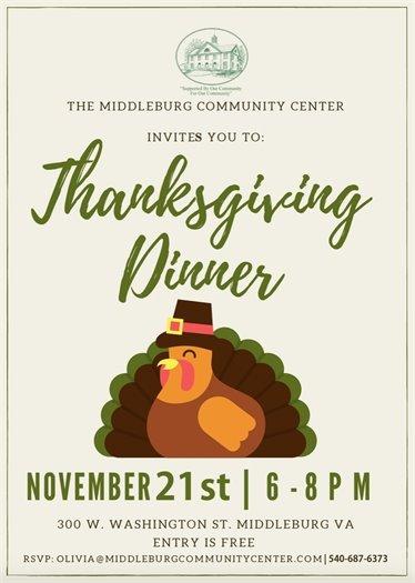 Community Center Thanksgiving Dinner