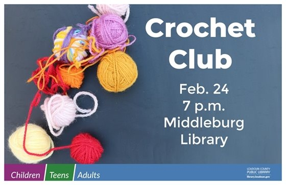 Middleburg Library, Crochet Club