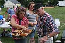 American Legion Handing out Hot Dogs