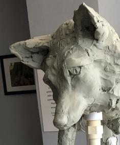 Fox Sculpture in Progress - March 29, 2019