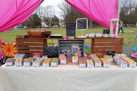 A Soap Vendors Booth at the Farmers Market