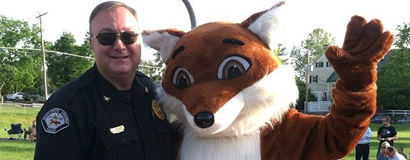 Chief of Police with Fox Mascot