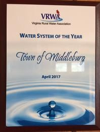 Town of Middleburg Water System of the Year April 2017